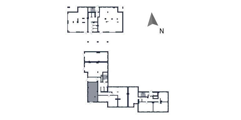 deweloperskie mieszkania rzeszów - rzut kondygnacji z zaznaczonym mieszkaniem  b5-rzut