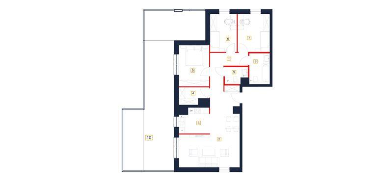 mieszkania rzeszów - rzut mieszkania  b52-m