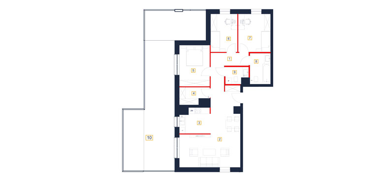 Mieszkanie – 4 pokój – taras – 93,18 m<sup>2</sup> – Rzeszów