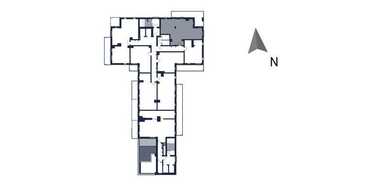 mieszkania rzeszów - rzut kondygnacji z zaznaczonym mieszkaniem  b53-rzut