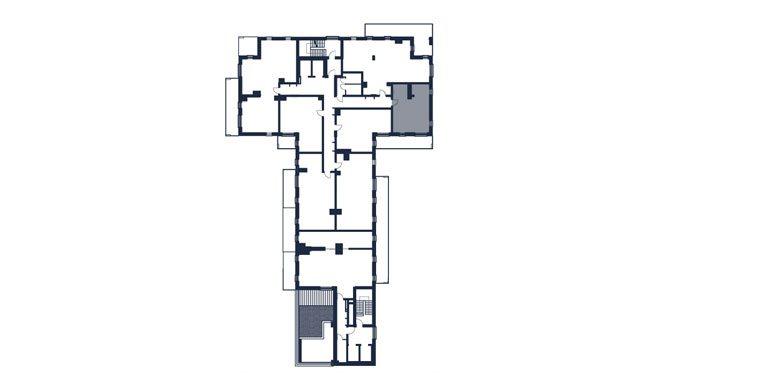 mieszkania rzeszów - rzut kondygnacji z zaznaczonym mieszkaniem  b54-rzut