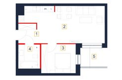 mieszkania rzeszów - rzut mieszkania b55-m