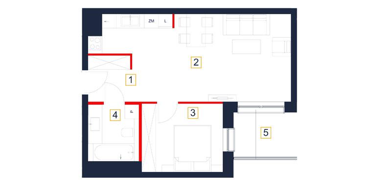 Mieszkanie – 2 pokój – loggia- 47,76 m<sup>2</sup> – Rzeszów