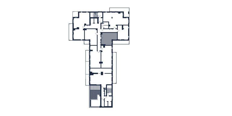 mieszkania rzeszów - rzut kondygnacji z zaznaczonym mieszkaniem  b55-rzut