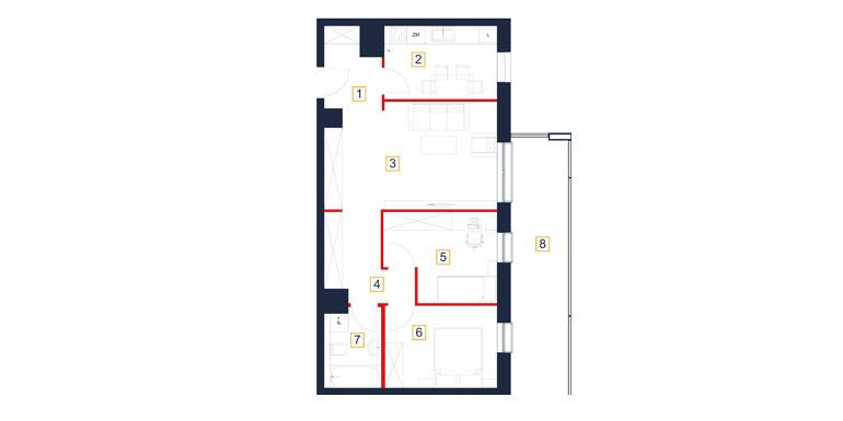 Mieszkanie – 3 pokój – loggia- 66,98 m<sup>2</sup> – Rzeszów