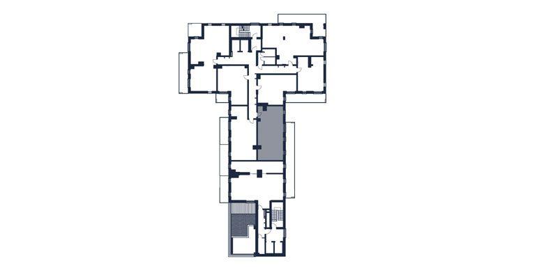 mieszkania rzeszów - rzut kondygnacji z zaznaczonym mieszkaniem  b56-rzut