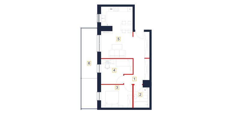 mieszkania rzeszów - rzut mieszkania  b57-m
