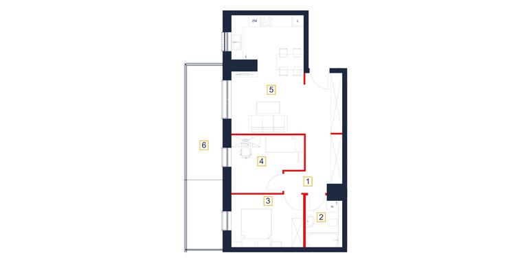 Mieszkanie – 3 pokój – taras- 61,34 m<sup>2</sup> – Rzeszów