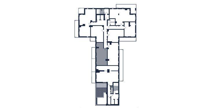 mieszkania rzeszów - rzut kondygnacji z zaznaczonym mieszkaniem  b57-rzut