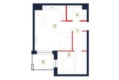 mieszkania rzeszów - rzut mieszkania b58-m