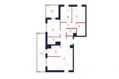 mieszkania rzeszów - rzut mieszkania b59-m