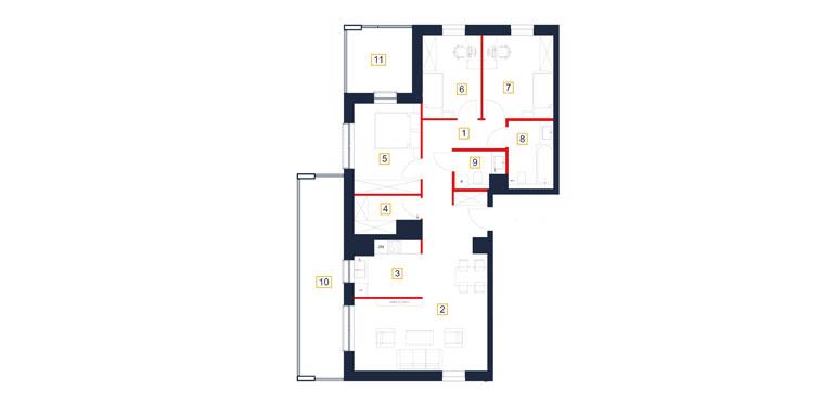 Mieszkanie – 4 pokój – loggia- 93,18 m<sup>2</sup> – Rzeszów