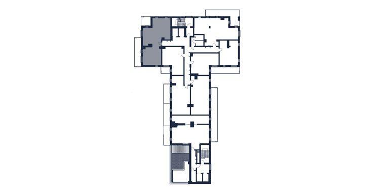 mieszkania rzeszów - rzut kondygnacji z zaznaczonym mieszkaniem  b59-rzut
