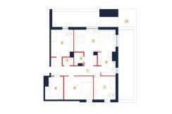 mieszkania rzeszów - rzut mieszkania b60-m