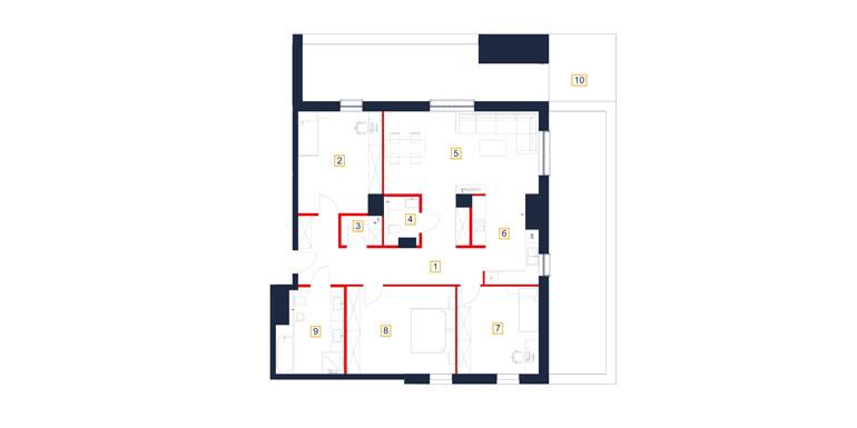 Mieszkanie – 4 pokój – taras- 126,10 m<sup>2</sup> – Rzeszów