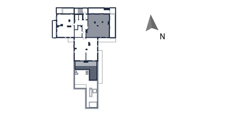 mieszkania rzeszów - rzut kondygnacji z zaznaczonym mieszkaniem  b60-rzut