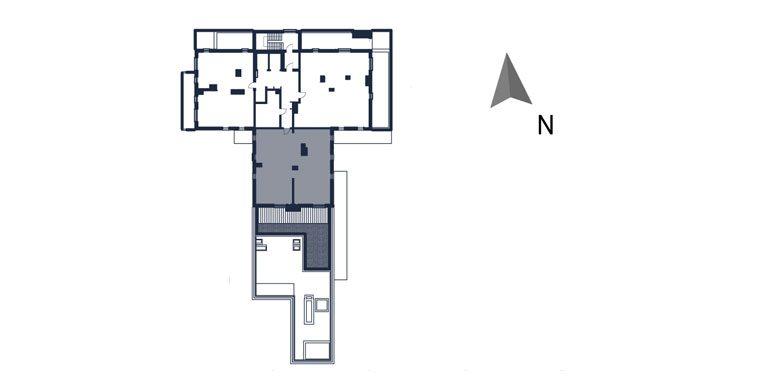 mieszkania rzeszów - rzut kondygnacji z zaznaczonym mieszkaniem  b61-rzut