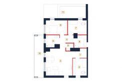 mieszkania rzeszów - rzut mieszkania b62-m