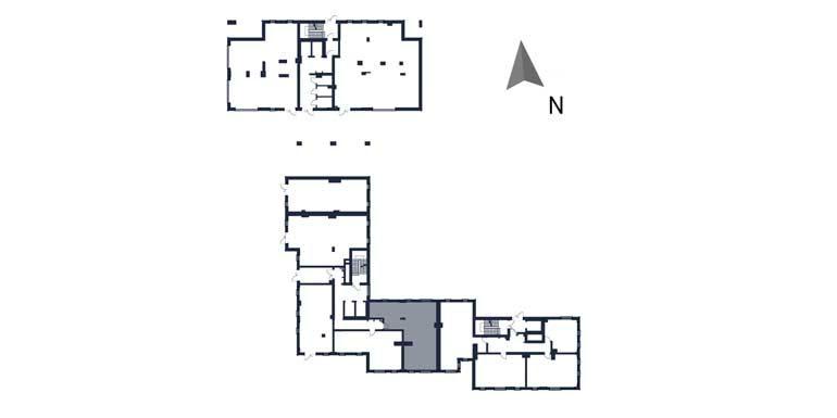 deweloperskie mieszkania rzeszów - rzut kondygnacji z zaznaczonym mieszkaniem  b63-rzut