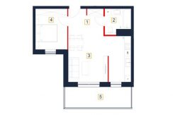 sprzedaż mieszkań rzeszów - rzut mieszkania b66-m