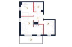 sprzedaż mieszkań rzeszów - rzut mieszkania b67-m