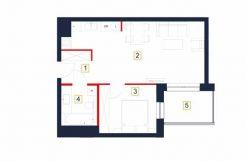 sprzedaż mieszkań rzeszów - rzut mieszkania b7-m