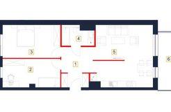 sprzedaż mieszkań rzeszów - rzut mieszkania b70-m