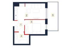 sprzedaż mieszkań rzeszów - rzut mieszkania b71-m