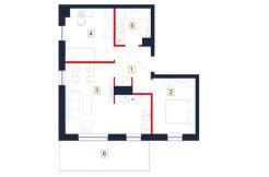 deweloperskie mieszkania rzeszów - rzut mieszkania b74-m