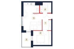 deweloperskie mieszkania rzeszów - rzut mieszkania b76-m