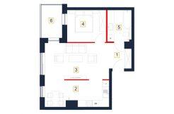 deweloperskie mieszkania rzeszów - rzut mieszkania b77-m