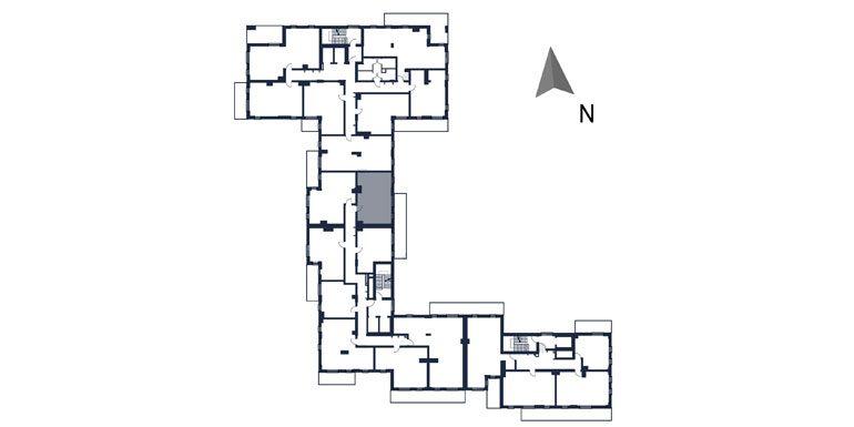 deweloperskie mieszkania rzeszów - rzut kondygnacji z zaznaczonym mieszkaniem  b78-rzut