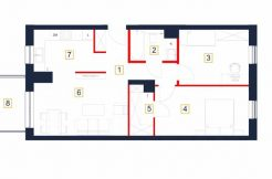 sprzedaż mieszkań rzeszów - rzut mieszkania b8-m