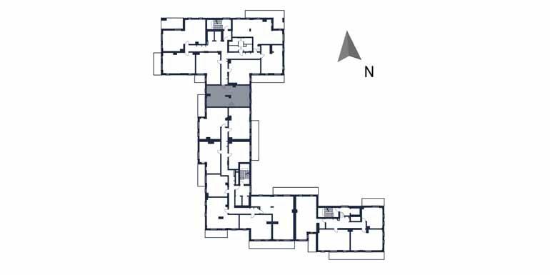 sprzedaż mieszkań rzeszów - rzut kondygnacji z zaznaczonym mieszkaniem  b8-rzut