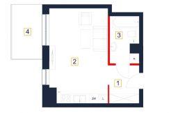 deweloperskie mieszkania rzeszów - rzut mieszkania b83-m