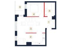 deweloperskie mieszkania rzeszów - rzut mieszkania b85-m