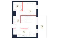 deweloperskie mieszkania rzeszów - rzut mieszkania b86-m