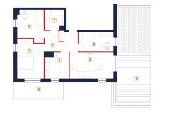 deweloperskie mieszkania rzeszów - rzut mieszkania b88-m