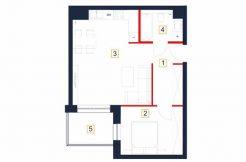 sprzedaż mieszkań rzeszów - rzut mieszkania b9-m