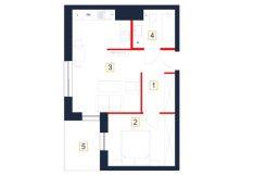 deweloperskie mieszkania rzeszów - rzut mieszkania b90-m