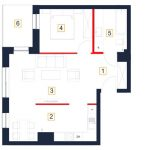 deweloperskie mieszkania rzeszów - rzut mieszkania b91-m
