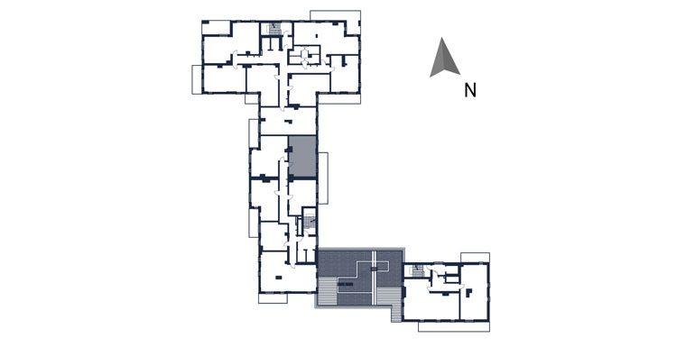 deweloperskie mieszkania rzeszów - rzut kondygnacji z zaznaczonym mieszkaniem  b92-rzut