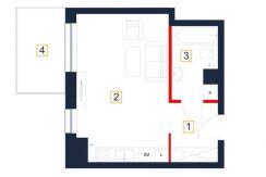 mieszkania rzeszów - rzut mieszkania b95-m