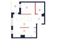 mieszkania rzeszów - rzut mieszkania b97-m
